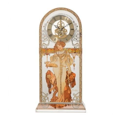 Krištáľové stolové hodiny Jeseň v. 32cm