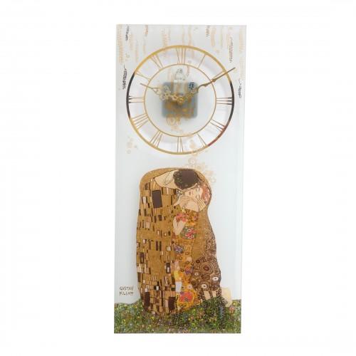 Krištáľové hodiny na stenu 20x48cm