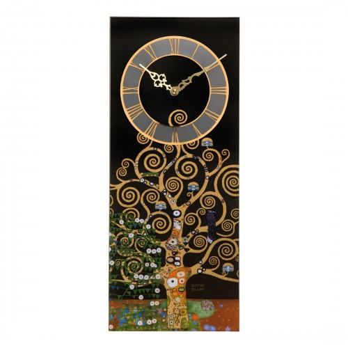 Krištáľové hodiny na stenu 2x48cm