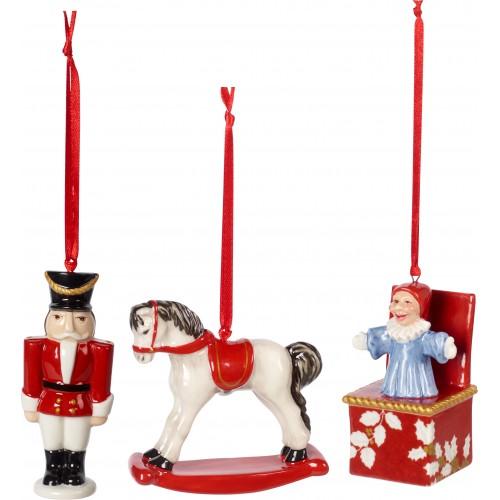 Vianočné ozdoby set 3 ks, 9,5cm