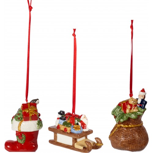 Vianočné ozdoby set 3 ks, 6,3cm